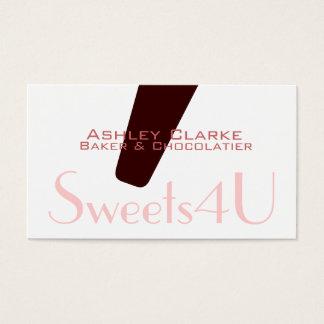 Monogram Logo Bakery Business Card