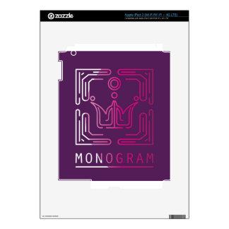 Monogram Logo Modern Line Art vector iPad 3 Decal