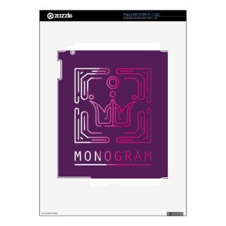 Monogram Logo Modern Line Art vector Skin For The iPad 2