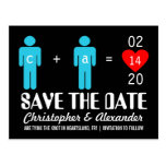Monogram Love Couple Save the Date Cards Postcard