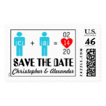 Monogram Love Couple Save the Date Stamps