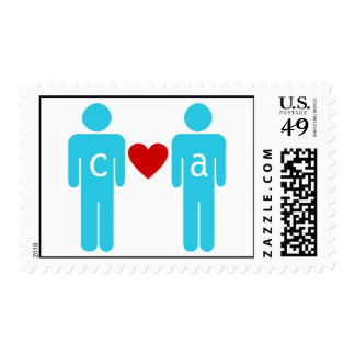 Monogram Love Couple Wedding Address Labels Postage Stamps