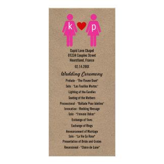 Monogram Love Couple Wedding Programs