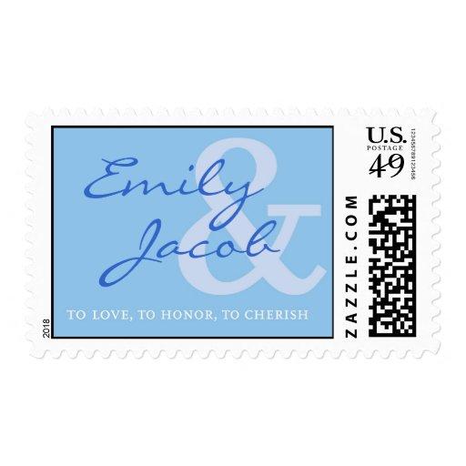 Monogram Love Stamp - Blue