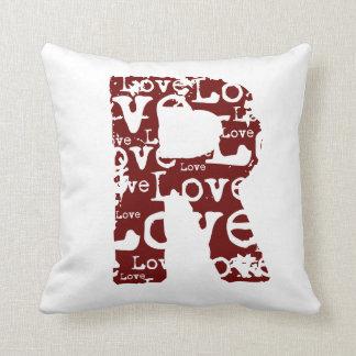 Monogram Love Text Pillow