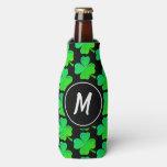 Monogram Lucky Irish Shamrocks St Patricks Day Bottle Cooler