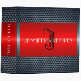 Monogram Luxury Stainless Steel Metal Look #10 Binder