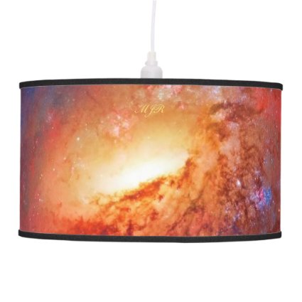 Monogram, M106 Spiral Galaxy, Canes Venatici Hanging Pendant Lamps