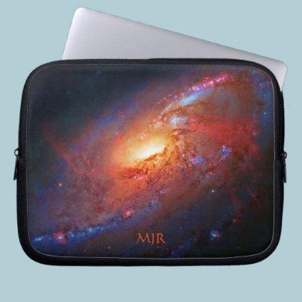 Monogram, M106 Spiral Galaxy, Canes Venatici Computer Sleeve