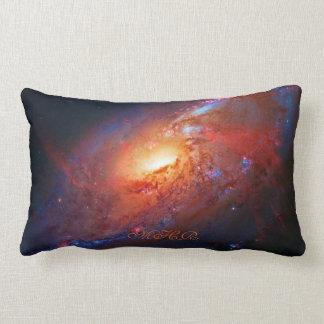 Monogram, M106 Spiral Galaxy, Canes Venatici Lumbar Pillow
