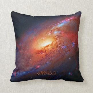 Monogram, M106 Spiral Galaxy, Canes Venatici Throw Pillow