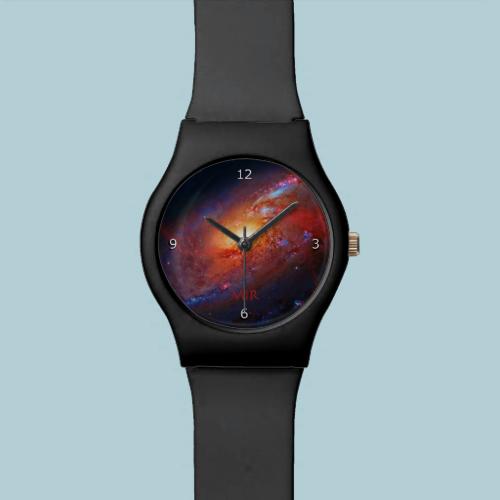 Monogram, M106 Spiral Galaxy, Canes Venatici Wrist Watches