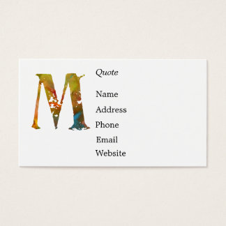 Monogram - M - Business Card