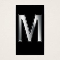Monogram m business cards