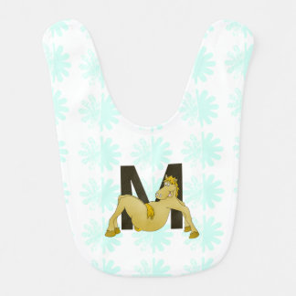 Monogram M Flexible Horse Personalised Baby Bib