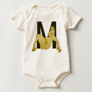 Monogram M Flexible Horse Personalised Baby Bodysuit