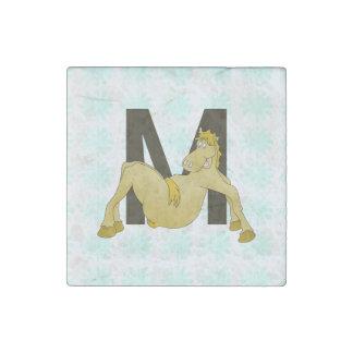 Monogram M Flexible Horse Personalised Stone Magnet