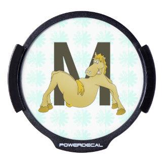 Monogram M Flexible Horse Personalised LED Car Decal
