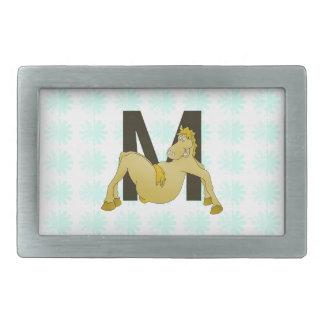 Monogram M Flexible Pony Personalised Belt Buckle