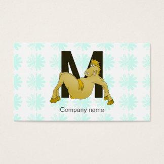 Monogram M Flexible Pony Personalised Business Card