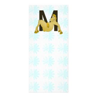 Monogram M Flexible Pony Personalised Rack Card