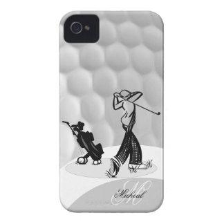 Monogram M Golfer Golf Ball Iphone 4 4S Case