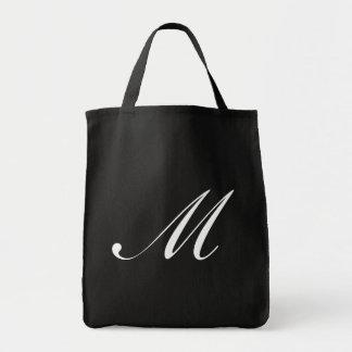 Monogram M Grocery Tote <Black>