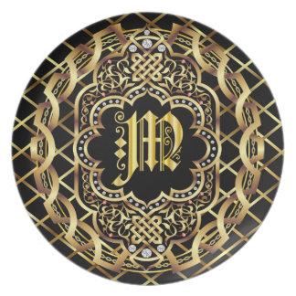 Monogram M IMPORTANT Read About Design Plate