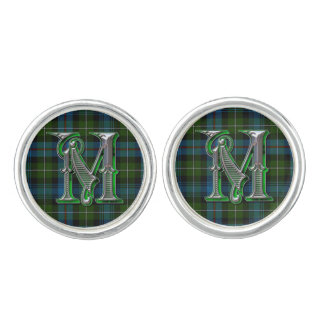 Monogram M MacKenzie Plaid Cuff Links