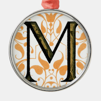 Monogram M Metal Ornament