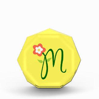 Monogram M Octagonal Award