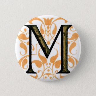 Monogram M Pinback Button