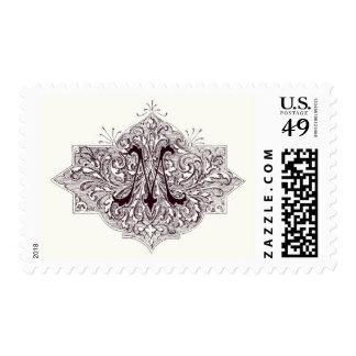 Monogram M postage