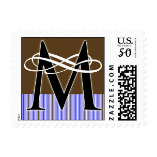Monogram M Postage -- Pick Your Own Color!