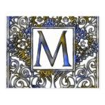 Monogram M Postcard