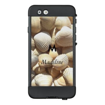 Beach Themed Monogram M Tropical Exotic Summer Beach Sea Shells LifeProof NÜÜD iPhone 6 Case