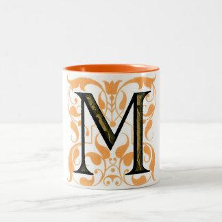 Monogram M Two-Tone Coffee Mug