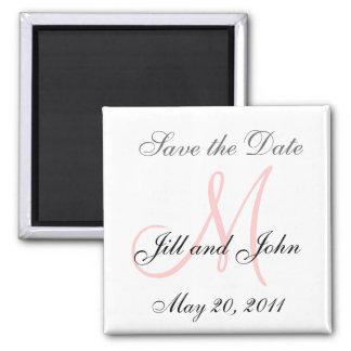 Monogram M Wedding Save the Date Magnet Magnet
