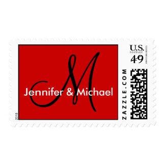 Monogram M Wedding Stamp Postage