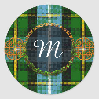 Monogram MacNeil Tartan Classic Round Sticker