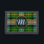 """Monogram MacNeil Tartan Trifold Wallet<br><div class=""""desc"""">One of the Scottish tartans for the MacNeil Clan with Celtic Knot decoration and Monogrammed Initial. If you would like another tartan not shown here,  please feel free to message me. Please provide the STA Reference number for the tartan pattern you would like if possible.</div>"""