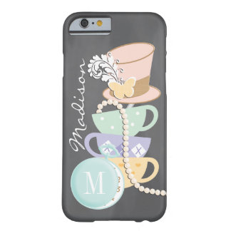 Monogram Mad Hatter Teacups and Hat Barely There iPhone 6 Case