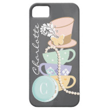 Monogram Mad Hatter Teacups and Hat iPhone 5/5S Case