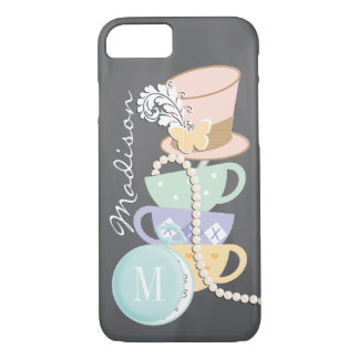 Monogram Mad Hatter Teacups and Hat iPhone 7 Case