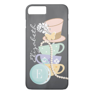 Monogram Mad Hatter Teacups and Hat iPhone 7 Plus Case