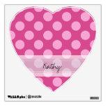 Monogram Magenta Pink Chic Polka Dot Pattern Wall Sticker