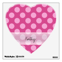 Monogram Magenta Pink Chic Polka Dot Pattern Wall Sticker