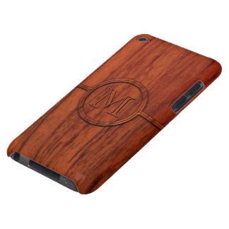 Monogram Mahogany Wood Print iPod Case-Mate Case
