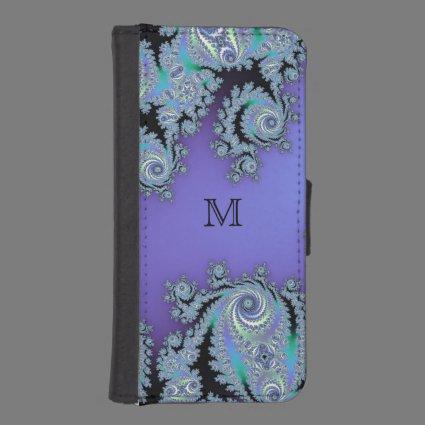 Monogram Mandelbrot Fractal Wallet Phone Case iPhone 5 Wallet Cases