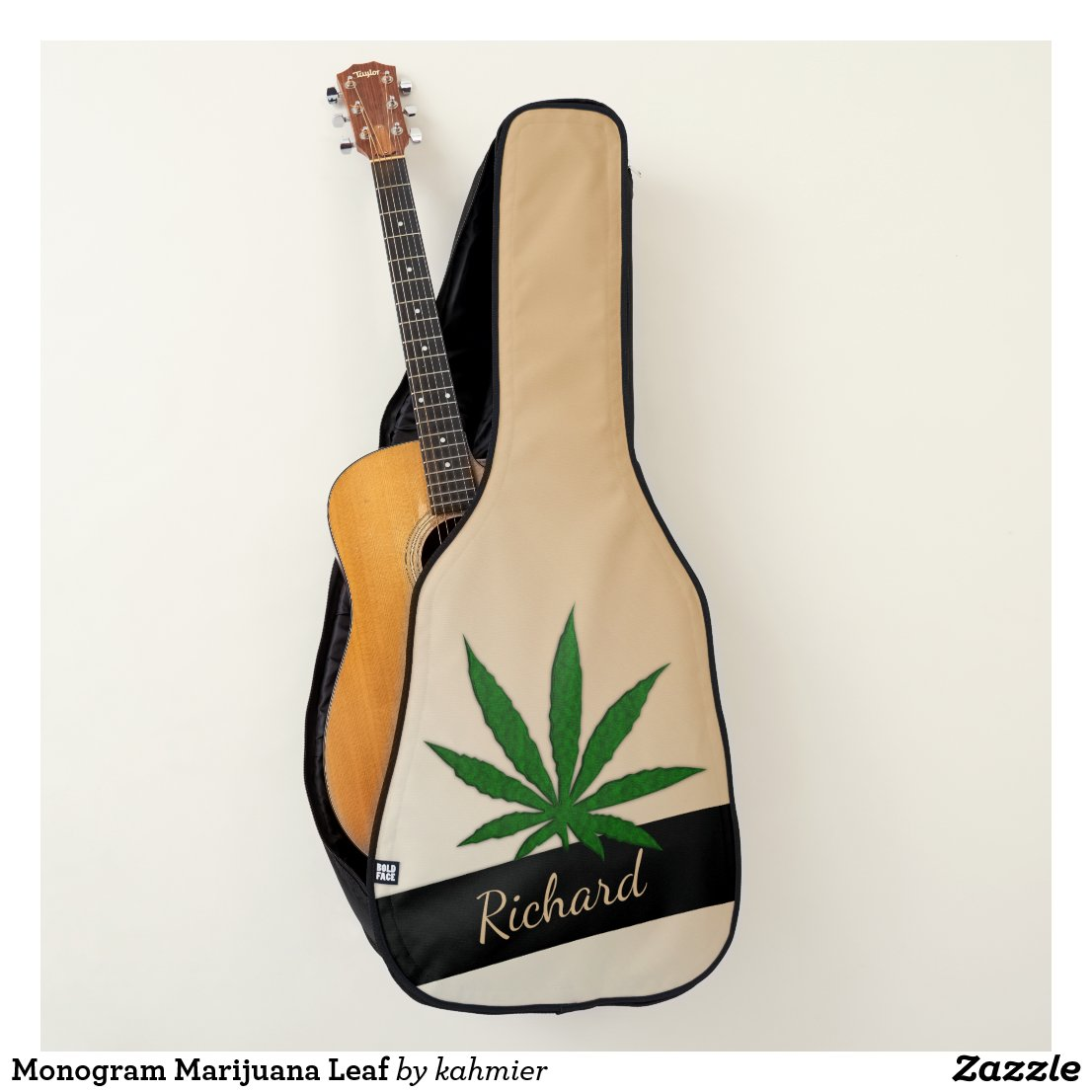Monogram Marijuana Leaf Guitar Case